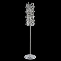 Allegri 027602-010-FR001 Vermeer 60 inch 40 watt Chrome Floor Lamp Portable Light in Firenze Clear