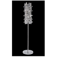Vermeer 60 inch 40 watt Chrome Floor Lamp Portable Light in Firenze Clear