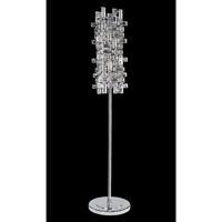 Allegri 027602-010-SE001 Vermeer 40 watt Chrome Floor Lamp Portable Light in Swarovski Elements Clear