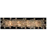 Allegri 027622-038-SE001 Vermeer 8 Light 38 inch Brushed Champagne Gold Vanity Light Wall Light in Swarovski Elements Clear