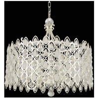 Prive 10 Light 34 inch 2-Tone Silver Pendant Ceiling Light