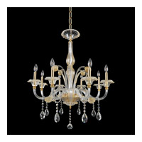 La Rosa 8 Light 32 inch 24K Gold Chandelier Ceiling Light