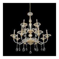 La Rosa 12 Light 43 inch 24K Gold Chandelier Ceiling Light
