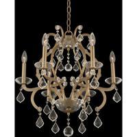 Allegri 029650-038-FR001 Duchess 6 Light 22 inch Brushed Champagne Gold Chandelier Ceiling Light