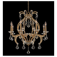Duchess 8 Light 28 inch Brushed Champagne Gold Chandelier Ceiling Light