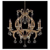 Allegri 029651-038-FR001 Duchess 8 Light 28 inch Brushed Champagne Gold Chandelier Ceiling Light