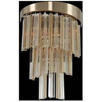 Espirali 3 Light 12 inch Brushed Champagne Gold Wall Bracket Wall Light