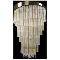 Espirali 15 Light 27 inch Brushed Champagne Gold Foyer Ceiling Light
