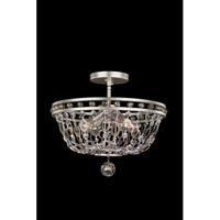 Lucia 4 Light 17 inch Vintage Silver Leaf Semi Flush Mount Ceiling Light