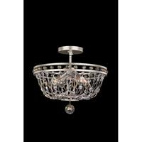 Allegri 029941-042 Lucia 4 Light 17 inch Vintage Silver Leaf Semi Flush Mount Ceiling Light