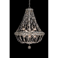 Allegri 029951-042 Lucia 6 Light 20 inch Vintage Silver Leaf Pendant Ceiling Light