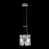 Allegri 030210-010 Glacier LED 10 inch Chrome Mini Pendant Ceiling Light