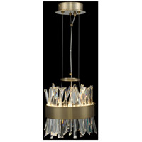 Allegri 030210-038 Glacier LED 10 inch Brushed Champagne Gold Mini Pendant Ceiling Light