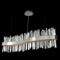 Allegri 030250-010 Glacier 42 inch Polished Chrome Island Light Ceiling Light