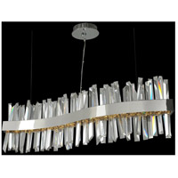 Glacier LED 42 inch Chrome Island Light Ceiling Light in Polished Chrome