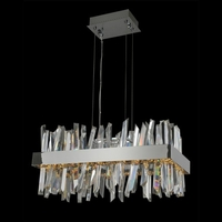 Allegri 030251-010 Glacier 26 inch Polished Chrome Island Light Ceiling Light photo thumbnail