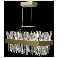Allegri 030251-038 Glacier LED 26 inch Brushed Champagne Gold Island Light Ceiling Light