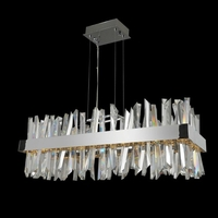 Allegri 030252-010 Glacier LED 36 inch Chrome Island Light Ceiling Light in Polished Chrome