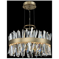 Allegri 030254-038 Glacier LED 25 inch Brushed Champagne Gold Pendant Ceiling Light