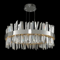 Glacier 32 inch Polished Chrome Pendant Ceiling Light