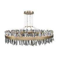 Allegri 030257-038 Glacier LED 60 inch Brushed Champagne Gold Pendant Ceiling Light