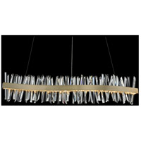 Allegri 030258-038 Glacier LED 60 inch Brushed Champagne Gold Island Light Ceiling Light in Brushed Nickel