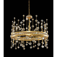 Fortuna 26 inch Vienna Gold Leaf Pendant Ceiling Light