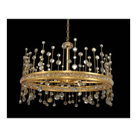 Fortuna 35 inch Vienna Gold Leaf Pendant Ceiling Light