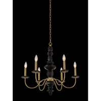 Piedra 6 Light 26 inch Brushed Brass Chandelier Ceiling Light