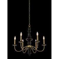 Allegri 031550-039 Piedra 6 Light 26 inch Brushed Brass Chandelier Ceiling Light