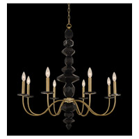 Piedra 8 Light 34 inch Brushed Brass Chandelier Ceiling Light