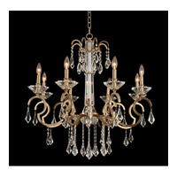 Valencia 8 Light 32 inch Brushed Champagne Gold Chandelier Ceiling Light