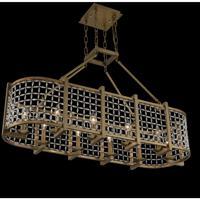 Allegri 032161-043-FR001 Verona 10 Light 15 inch Brushed Pearlized Brass Island Light Ceiling Light