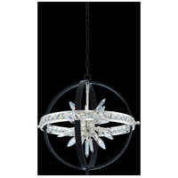 Allegri 033650-050-FR001 Angelo 6 Light 23 inch Matte Black with Polished Silver Pendant Ceiling Light