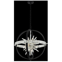 Allegri 033651-050-FR001 Angelo 10 Light 26 inch Matte Black with Polished Silver Pendant Ceiling Light
