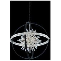 Allegri 033652-050-FR001 Angelo 24 Light 36 inch Matte Black with Polished Silver Pendant Ceiling Light