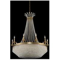 Allegri 033972-044-FR001 Tavo 10 Light 40 inch Winter Brass Chandelier Ceiling Light