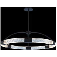 Allegri 034851-051-FR001 Athena 32 inch Matte Black with Polished Nickel Pendant Ceiling Light