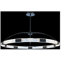 Allegri 034852-051-FR001 Athena 43 inch Matte Black with Polished Nickel Pendant Ceiling Light