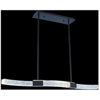 Allegri 034860-051-FR001 Athena 40 inch Matte Black with Polished Nickel Island Ceiling Light