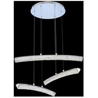 Allegri 035750-010-FR001 Aries 35 inch Chrome Pendant Ceiling Light