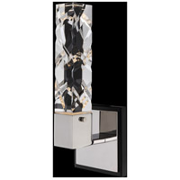 Allegri 036721-051-FR001 Serres 5 inch Matte Black with Polished Nickel ADA Wall Sconce Wall Light