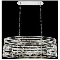 Silver Crystal Contemporary Island Lights