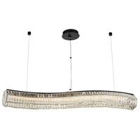 Allegri 037161-052-FR001 Tamburo 46 inch Matte Black with Polished Chrome Island Ceiling Light