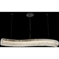 Allegri 037161-052-FR001 Tamburo 46 inch Matte Black with Polished Chrome Island Ceiling Light