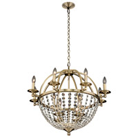 Allegri 037771-038-FR001 Pendolo 12 Light 30 inch Brushed Champagne Gold Chandelier Ceiling Light