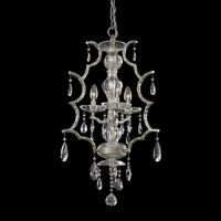 Allegri 090070-040-FR001 Shorecrest 3 Light 17 inch Sliver Dollar Chandelier Ceiling Light