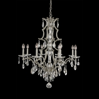 Allegri 090073-040-FR001 Shorecrest 8 Light 34 inch Sliver Dollar Chandelier Ceiling Light