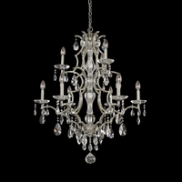 Allegri 090074-040-FR001 Shorecrest 9 Light 34 inch Sliver Dollar Chandelier Ceiling Light