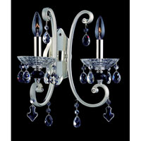 Allegri Nardini 2 Light Wall Bracket in Two-tone Silver with Firenze Clear Crystals 10012-017-FR001